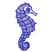 Sea horse machine embroidery design 4