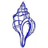 Sea shell machine embroidery design 6