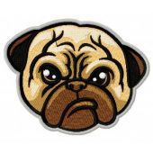 Snuffy pug-dog embroidery design