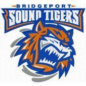 Bridgeport Sound Tigers logo machine embroidery design