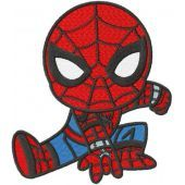Spider boy active embroidery design