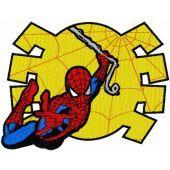 Spiderman big jump machine embroidery design