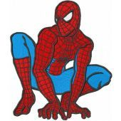 Spiderman ready to attack embroidery design