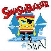 SpongeBob pirate embroidery design