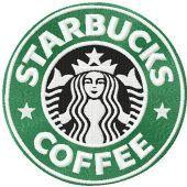 Starbucks Coffee logo machine embroidery design