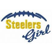 Steelers girl embroidery design