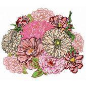 Summer bouquet machine embroidery design 2