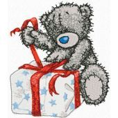 Teddy Bear Christmas is coming embroidery design