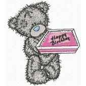 Teddy Bear Happy Birthday embroidery design