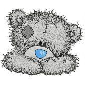 Teddy Bear happy face embroidery design