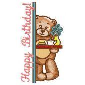 Teddy's teatime machine embroidery design 6