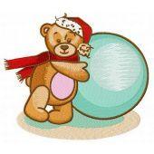 Teddy's winter machine embroidery design