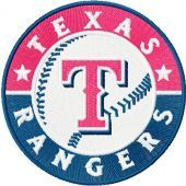 Texas Rangers logo machine embroidery design