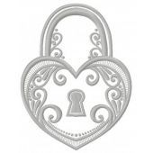 Tiffany keylock machine embroidery design 3