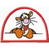 Tigger very friendly embroidery design