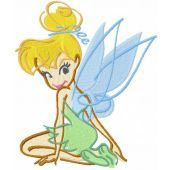 Tinkerbell scetch embroidery design