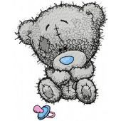 Tiny Teddy bear with children*s dummy embroidery design