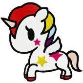 Tokidoki Unicorno embroidery design