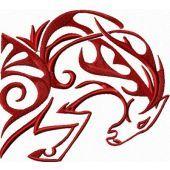 Tribal Horse free machine embroidery design