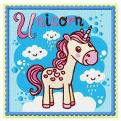 Unicorn embroidery design 3