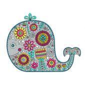 Whale machine embroidery design 3