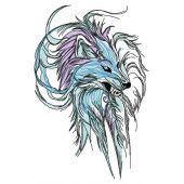 Wolf spirit embroidery design 4
