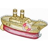 Wooden Boat embroidery design