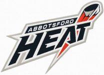 Abbotsford Heat logo machine embroidery design