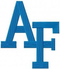 Air Force Falcons primary logo machine embroidery design