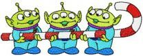 Aliens Likes Christmas machine embroidery design