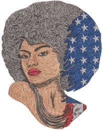 American woman style embroidery design