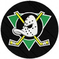 Anaheim Mighty Duck hockey club logo embroidery design
