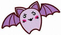 Angry purple bat