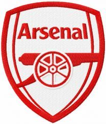 Arsenal red color logo embroidery design