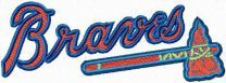 Atlanta Braves logo machine embroidery design