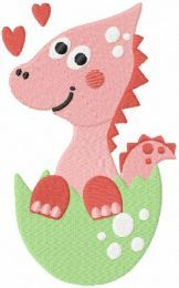 Baby dino embroidery design