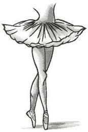 Ballerina dances in pointe shoes