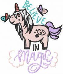Believe in magic embroidery design
