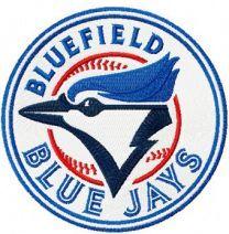 Bluefield Blue Jay Logo machine embroidery design