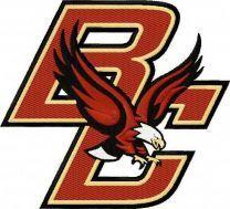 Boston College Eagles primary logo machine embroidery design