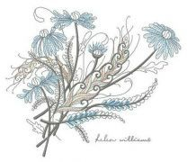 Bouquet of chamomiles embroidery design