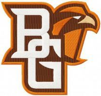 Bowling Green Falcon primary logo machine embroidery design