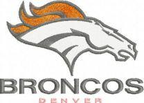 Denver Broncos Logo embroidery design
