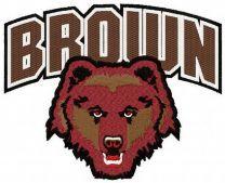 Brown Bears logo machine embroidery design