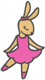 Bunny ballerina free embroidery design