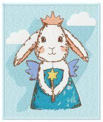 Bunny fairy machine embroidery design