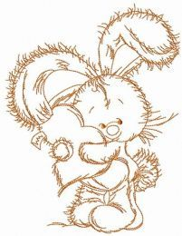 Bunny hugs your heart embroidery design 3