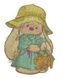 Bunny Mi with elephant handbag