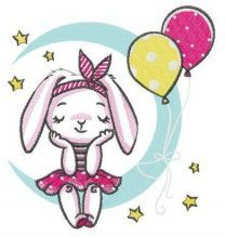 Bunny's birthday party embroidery design