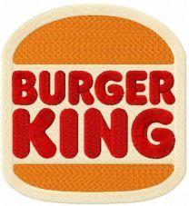 Burger King 2021 logo embroidery design